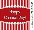 Baseball theme Happy Canada Day card in vector format. - stock vector
