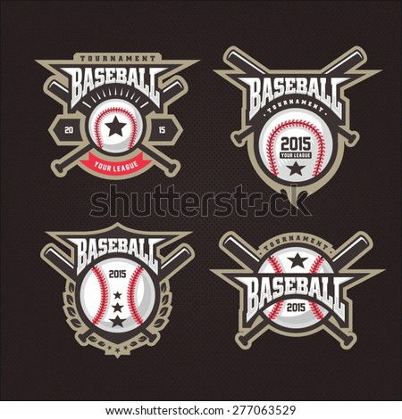 Baseball tournament professional logo - stock vector