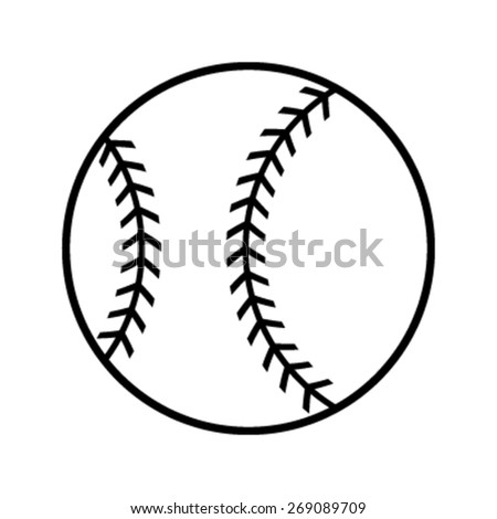 Baseball Vector Icon Stock Vector 269089616 - Shutterstock