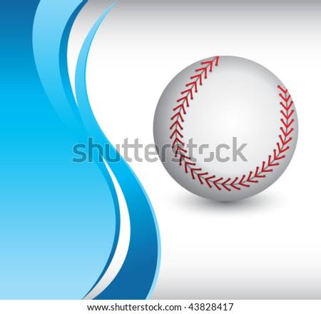 baseball vertical blue wave backdrop - stock vector