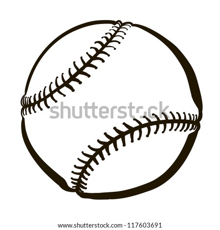 Vector Illustration Baseball Ball Stock Vector 321543794 ...