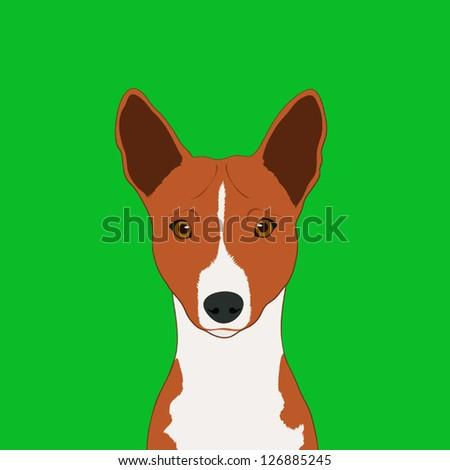 Basenji, The buddy dog - stock vector