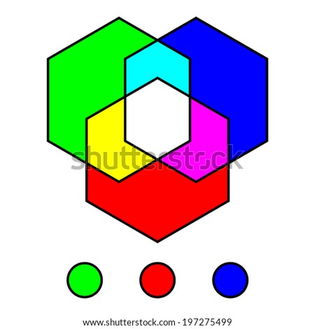 Basic colors - stock vector