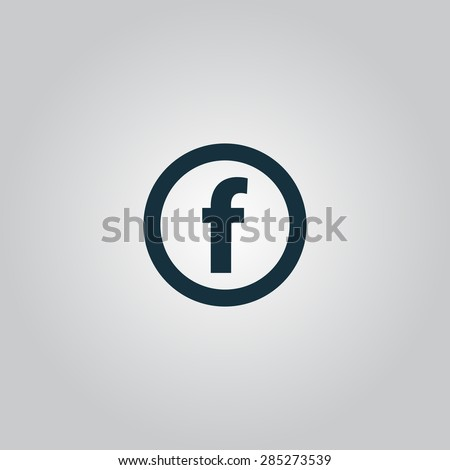 Basic font for letter F. Flat web icon or sign isolated on grey background. Collection modern trend concept design style vector illustration symbol - stock vector