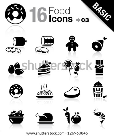 Basic - Food Icons - stock vector