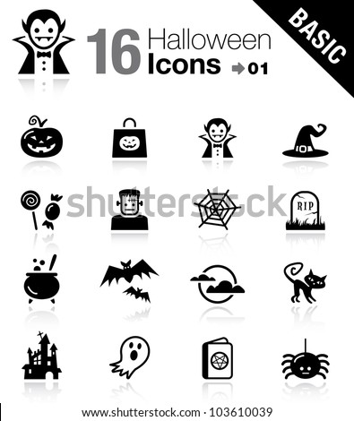 Basic - Halloween icons - stock vector