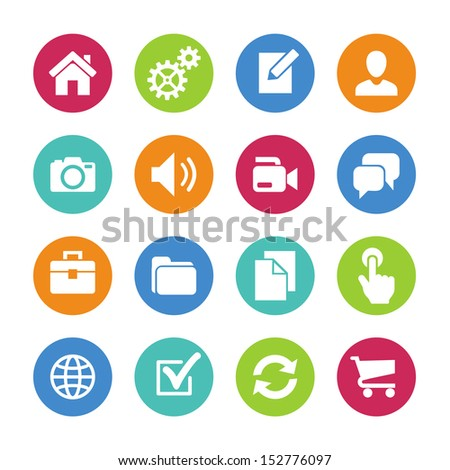 Basic Icons Website Icon Set Stock Vector 152776097 ...