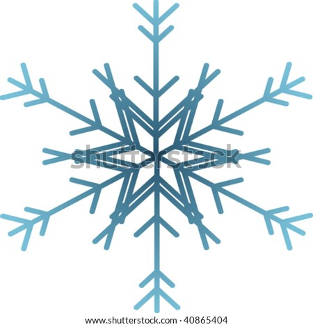 Basic & simple design of a snowflake for winter season