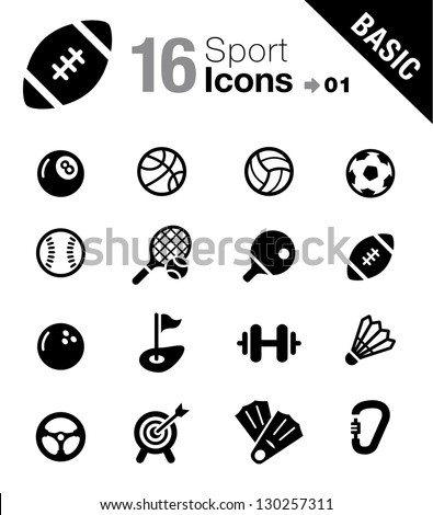 Basic - Sport icons - stock vector
