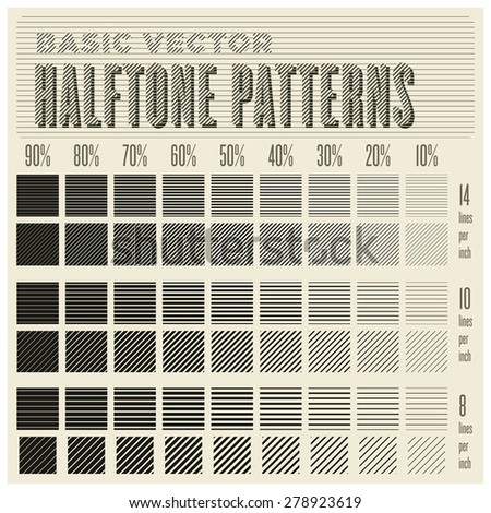 basic vector halftone seamless patterns (with swatches) no clipping path