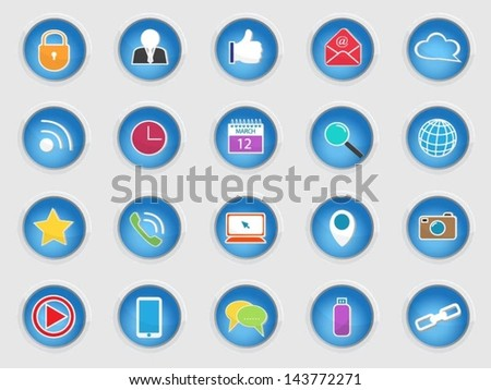 Basic Vector Social Media Icons