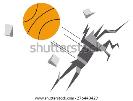 basket ball - stock vector