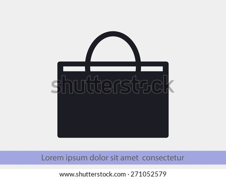 basket icon - stock vector