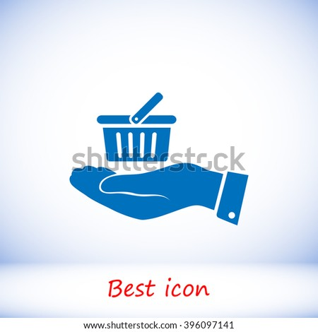 basket icon in hand