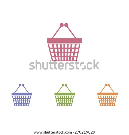 Basket icons - stock vector