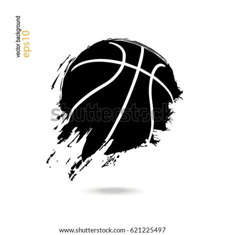 basketball sporty abstract ball logo symbol stock vector royalty