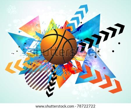 basketball advertising poster. - stock vector
