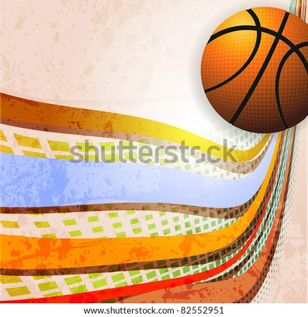 Basketball Advertising poster. Vector illustration - stock vector