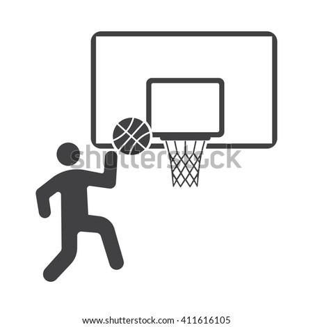 Basketball and ball Icon. Basketball Icon, Basketball Icon Eps10, Basketball Icon Vector, Basketball Icon Eps, Basketball Icon Jpg, Basketball Icon Picture, Basketball Icon Flat, Basketball Icon App - stock vector
