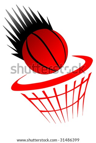 basketball and net - stock vector