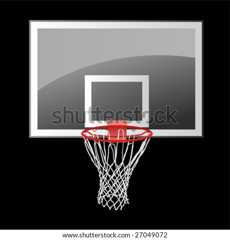 basketball backboard - stock vector