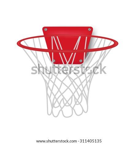 basketball backboard, vector illustration - stock vector