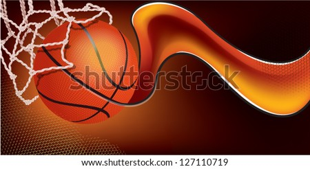 basketball background - stock vector