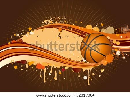 basketball background - stock vector