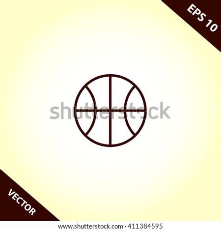 basketball ball flat icon. basketball ball vector illustration - stock vector