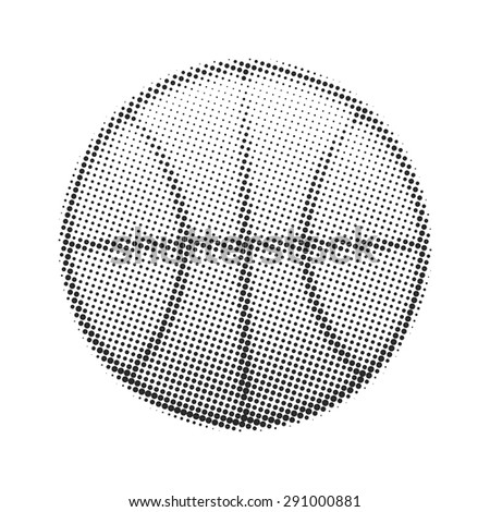 Basketball ball halftone on a white background. Stylized basketball dots - stock vector