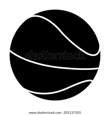 Basketball ball icon - vector illustration - stock vector