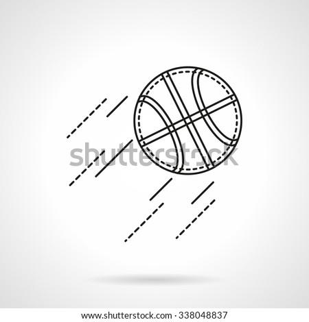 Basketball Ball Flight Team Sport Symbols Stock Vector 338048837