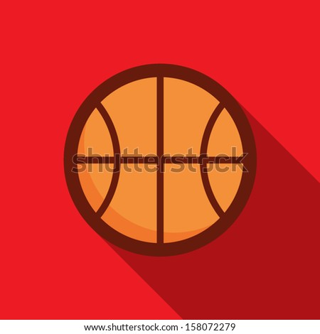 Basketball ball retro poster, sport and recreation concept - stock vector