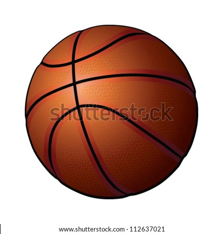 Basketball, ball, vector - stock vector