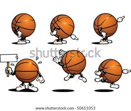 Basketball Character - stock vector
