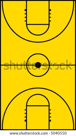 basketball court - stock vector