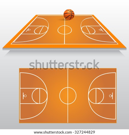 Sports court stock images royalty free images vectors for Basketball court plan