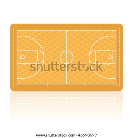 Basketball Court. Vector. Detailed portrayal of parquet floor. - stock vector