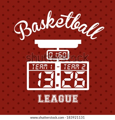 Basketball design over red background,vector illustration