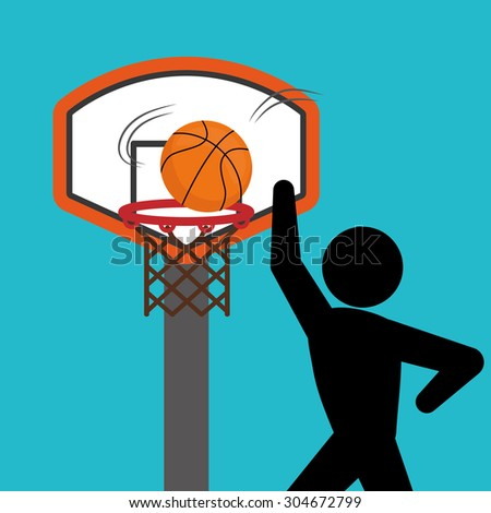 Basketball digital design, vector illustration 10 eps graphic