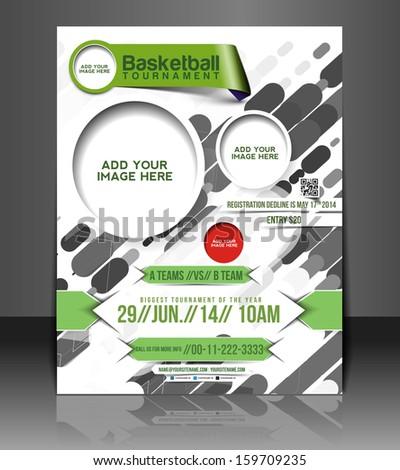 Basketball Flyer & Poster Cover Template  - stock vector