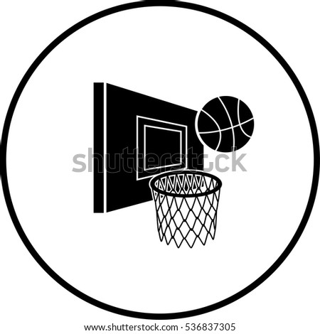 basketball hoop and ball symbol