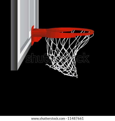 basketball hoop vector - stock vector