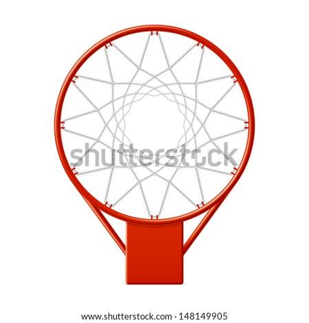 Basketball hoop. Vector. - stock vector