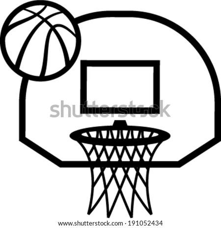 Basketball Hoop Vector Icon Illustration Stock Vector ...