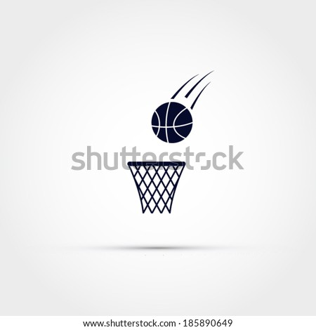 Basketball icon - stock vector