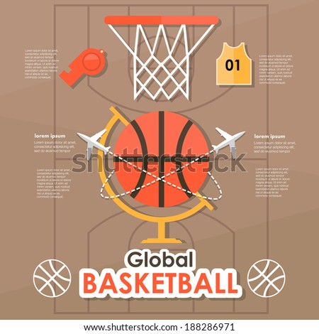 Infographic Ideas infographic basketball : Basketball Template Stock Photos, Royalty-Free Images & Vectors ...