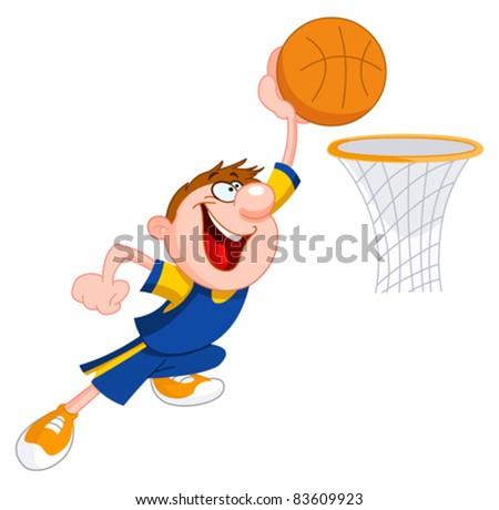 Basketball kid - stock vector