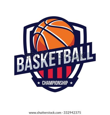 Basketball Logo, American Logo Sport - stock vector