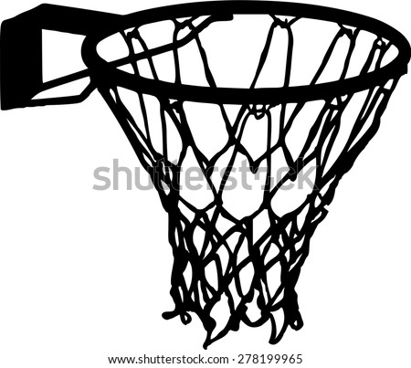 Basketball Net Basket Details Vector - stock vector